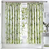 Dreams & Drapes Florence Cortinas Plisadas, 100% poliéster, Verde, Curtains: 66