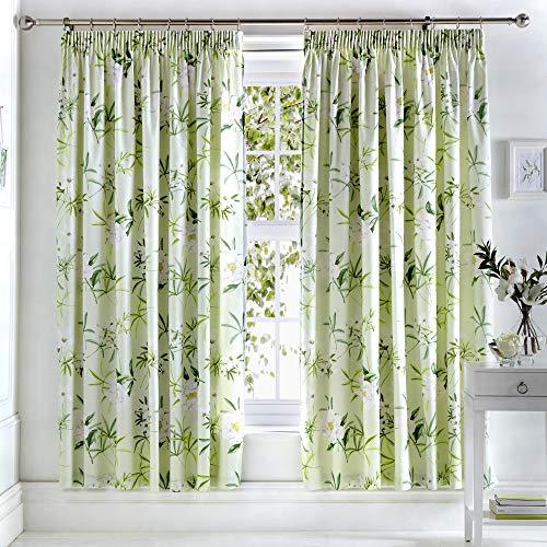 "Dreams & Drapes Florence Cortinas Plisadas, 100% poliéster, Verde, Curtains: 66"" Width x 72"" Drop (168 x 183cm)"