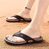 ALUNVA Playa Flip-Flops Verano Zapatillas Sandalias de Masaje Hombres cómodos Zapatos Casuales Moda Hombres Flip chancles Calzado (Color : Brown, Shoe Size : I)