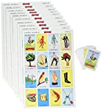 Don Clemente Mexican Jumbo Loteria Set, Deck of...