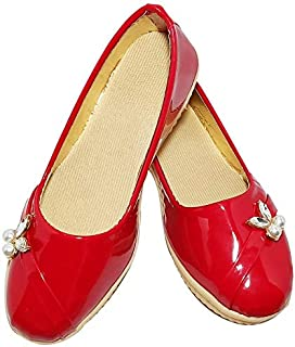 FOOTONREST Latest Collection Fancy Sandals for Girl Belly for Kids and Baby Girl Sandals Red, Brown, Light Coffee Colour Belly for Kids and Girls 1 Year to 10 Year
