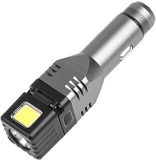 JJYPT Multifunctional Car Chargeable Mini Flashlight 4 Modes Security Hammer Tail COB Flashlight Car Charger Flashlight