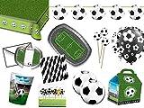 Folat/Diverse Fußball XL Partyset 94-tlg. - Party Set für 8 Gäste - Komplettset für Ihre Fußballparty