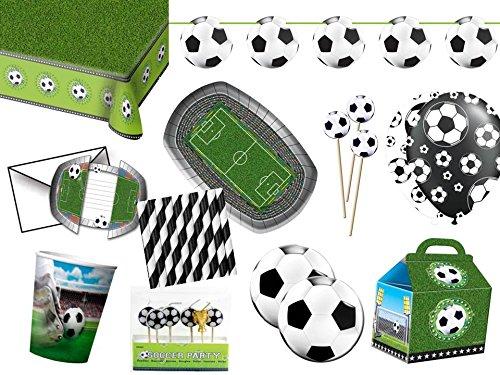 Fußball XL Partyset 94-TLG. - Party Set für 8 Gäste - Komplettset für Ihre Fußballparty