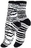Yenita 4 Paar Kuschelsocken, weiche Flauschsocken, Bettsocken, warme Socken mit Muster
