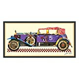 Empire Art Direct Antique Automobile #2 Dimensional Collage Handmade by Alex Zeng Framed Graphic Car Wall Art, 25' x 48' x 1.4'
