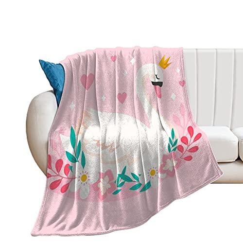 Flauschige Kuscheldecke Weißer Schwan Tagesdecke Oder Wohnzimmerdecke 40