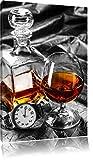 Man Things mit Whiskey und Uhr schwarz/weiß Format: 80x60