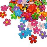 Fiori in Feltro, 150 Pezzi Fiori in Feltro Colori Diversi Tessuto Artigianale Fiori per la Festa dei Bambini Festa della Mamma Fai da Te Decorazione per Feste di Compleanno