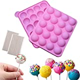 Silicone Cake Pop Mold + 220 Sticks, BPA Free Baking Mold for Candy Chocolate Lollipop Dessert Cupcake Cooker