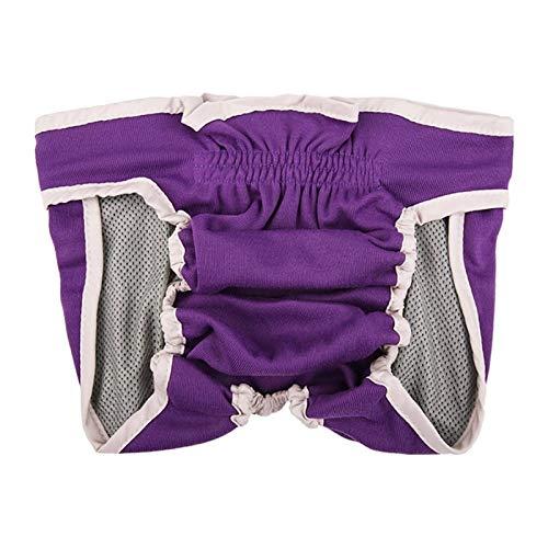 Nai-storage Pantalones fisiológicos para Perros, algodón Reutilizable Anti-acoso Perras pañales de menstruación Altamente absorbentes para Perras (Color : Purple, Size : X-Large)