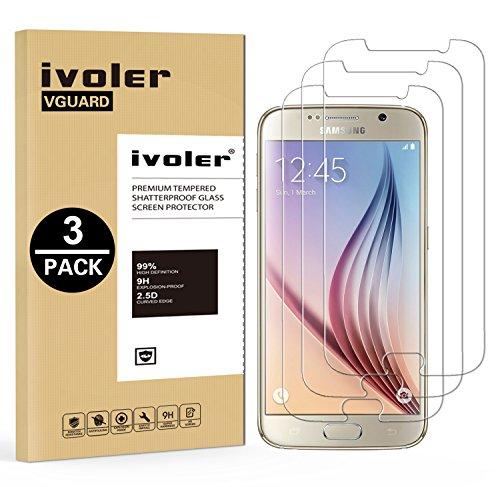 iVoler [3 Pack] Vetro Temperato Compatibile con Samsung Galaxy S6, Pellicola Protettiva, Protezione per Schermo