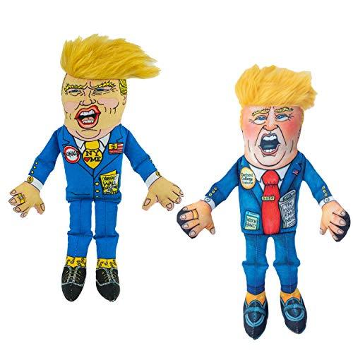 "FUZZU Donald V. Donald Set/2 Dog Toys, 2020 Special Edition Donald (12"" Size) + Classic Donald (12"" Size)"
