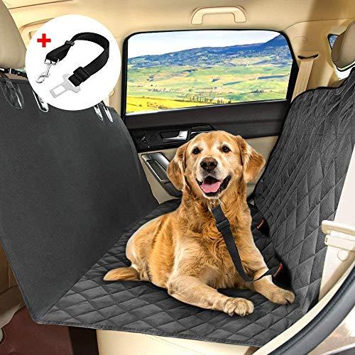 KYG Hundedecke Auto Autoschondecke für Rückbank Kofferraum wasserdichte Schondecke mit Gurtöffnung für Hunde 148 x 136 cm Robuste Auto Hundedecke Rücksitz für Hunde MEHRWEG