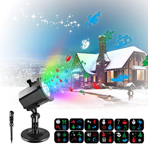 Samuyang Christmas Laser Projector Lights Outdoor-Waterproof Snowflake Laser Christmas Lights,Decorative Landscape Holiday Projector Light Spotlight for Outdoor Xmas Holiday Party New Year Birthday