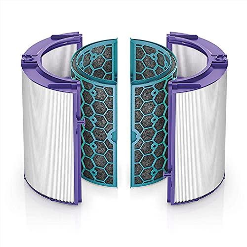 XXHDEE Purificador de aire Juego de filtros HEPA genuino, filtro HEPA de repuesto compatible con Dyson HP04 TP04 DP04 TP05 HP05 Ventilador purificador de aire frío puro y filtro de carbón activado int
