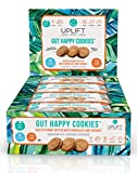 Gut Happy Cookies, Natural, Plant Based, Keto Friendly, Salted Peanut Butter with Chocolate & Coconut, 36 Count, Prebiotic & Probiotic, High Fiber, Low Sugar, Grain Free by Uplift Food