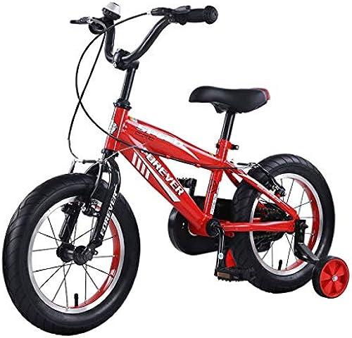 LCM Kinderfürr r 3-6-j ige Schülerfürr r mädchenfürr r Mountainbike 14 Zoll Sportfürr r Kinder (Farbe   Gelb, Größe   14INCHES)