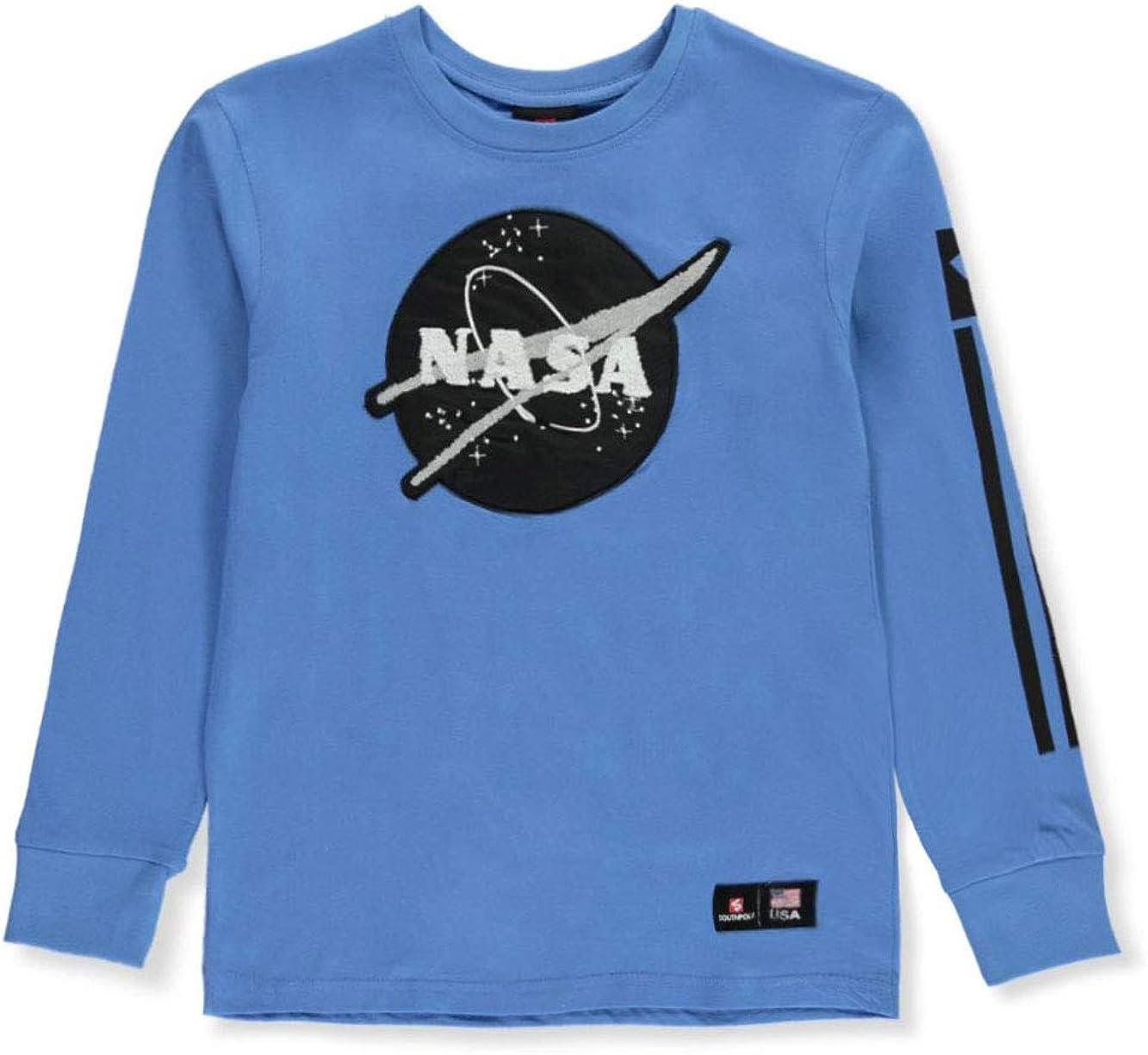 Southpole Boys' Big NASA Collection Fashion Tee Shirt (Short & Long Sleeve)