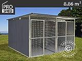 Dancover Hundezwinger 3,22x2,75x1,86m ProShed, Anthrazit