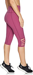 Rockwear Activewear Women's 3/4 Tape Detail Luxesoft Tight from Size 4-18 for 3/4 Length Ultra High Bottoms Leggings + Yoga Pants+ Yoga Tights