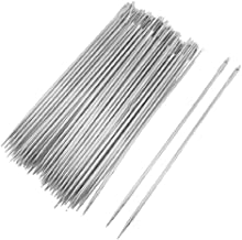 uxcell Sewing Needles 0.7mm Dia Tip 4 Inch Length 50 Pcs