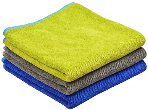SINLAND Microfiber Gym Towels Absorbent and Fast Drying Sports Towel 3-Pack 16 Inch X 32 Inch