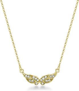Mestige Women Brass Golden Angel Wings Necklace, 41 cm - PMNE1006