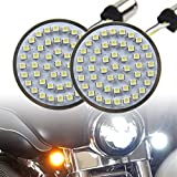 Motorcycle LED Light 2' 50mm Bullet Style LED Turn Signals Pannel For Motor bike Sporter Softail Touring (1157 base-1) …