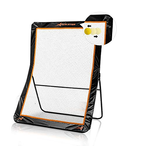 Aceletiqs Lacrosse Rebounder 5x7 Feet Practice Net Screen- Pitchback, Throwback, Bounce Back Training Wall for Backyard- Portable Design, Foldable- for Throwing, Shooting, Catching Practice