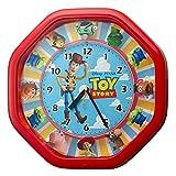リズム(RHYTHM) ディズニー トイ ストーリー 掛け時計 からくり時計 37x37x9.3cm TOY STORYソング4曲入り 4MH440MC01 レッド