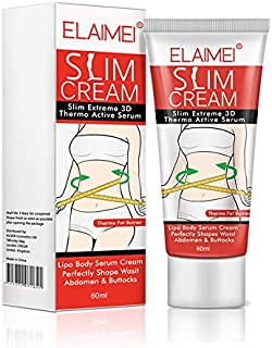 Natural Slim Cream, Slim Extreme 3D Thermo Active Cellulite Serum One Spring Women Fat Burning Weight Losing Body Slimming