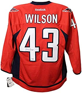 e0fd4d2a8 Tom Wilson Autographed/Signed Washington Capitals Reebok Red XL Jersey FAN