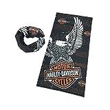 Dodo - Sciarpa multiuso Harley Davidson da motociclista, passamontagna, tubolare, fascia, scaldacollo, bandana