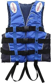 AZHUI Float Gilet Adulte Enfant Gilet de Sauvetage Veste Natation Bateau D/érive Gilet de Sauvetage avec sifflet Parfait for Les Sports Nautiques Tailles S-XXXL Color : Blue 3XL