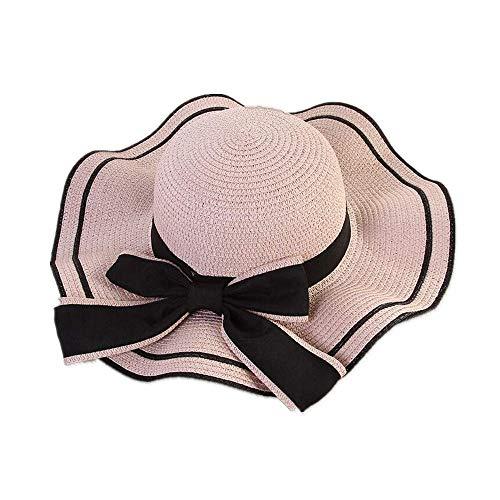 Sombrero para el Sol de Verano Mujeres Sombreros de Paja Sombrilla Gorra...