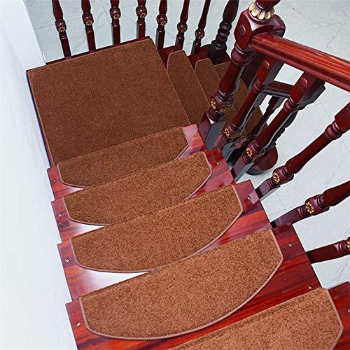 Spooot Pack met 10 traptreden tapijt antislip tapijt voor traptreden antislip vloermatten wasmachinebestendig snel 30 x 9 inch (grijs)