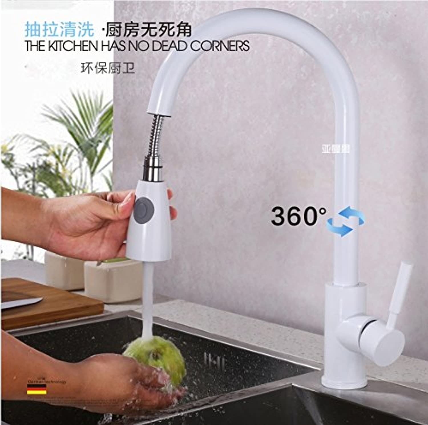 WINZSC German unleaded universal redary hot and cold kitchen faucet telescopic sink sink sink faucet lo3
