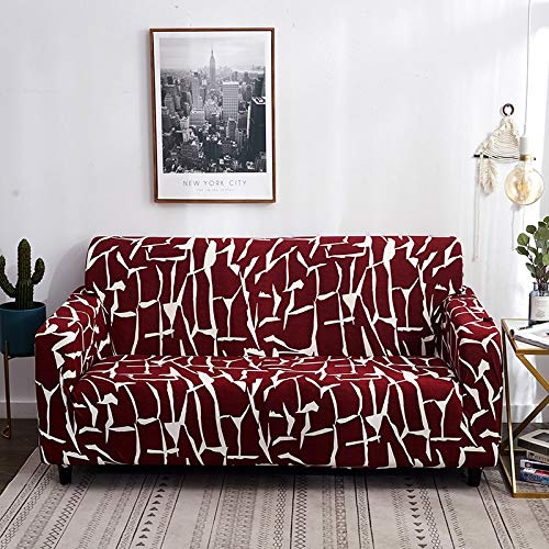 Fundas de sofá elásticas con Estampado Floral para Sala de Estar, Toalla de sofá, Funda de sofá Antideslizante, Funda de sofá elástica A9, 3 plazas