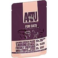 AATU アートゥー キャット サーモン、チキン & エビ 85g (キャットフード ウェット 猫用総合栄養食) 全猫種成猫