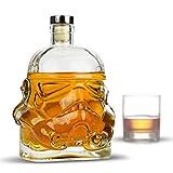 MostroMania - Caraffa da Whisky Stormtrooper - Decanter Star Wars in Vetro con Tappo in Sughero - Contenitore per Bevande - Accessori da Whisky - Regali Originali - Regali di Natale