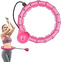Gewogen slimme hoelahoep, intelligente fitness hoepels 24 knopen afneembare ring 2 in 1 verstelbare maat met zwaartekracht...