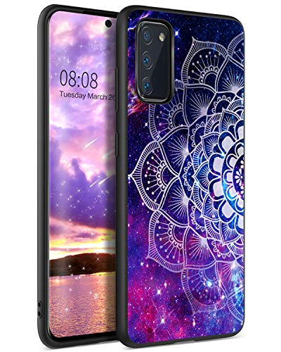 YINLAI Samsung Galaxy S20 hülle, Handyhülle Samsung S20 Lila Mandala Nebula Muster mit TPU Stoßstange Hybrid PC Schale stoßfest Kratzfest dünne Stylische Schutzhülle für Samsung S20 6.2 Zoll