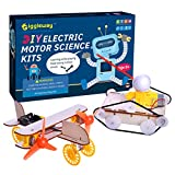 Giggleway Electric Motor Science Kits for Kids, DIY Wooden Kids Science Experiment Kits, Circuit Building STEM Toys for Boys and Girls-Tank Model Kit, Bird Taxiing Aircraft