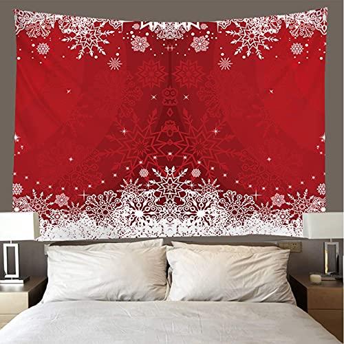 binghongcha 3D Tapestry Christmas Snowflakes A2252 Mandalatapestries Yoga Mat Beach Towel Blanket,Picnic Beach Sheet, Table Cloth, Boho,Decorative Wall Hanging 130(H) X150(W) Cm