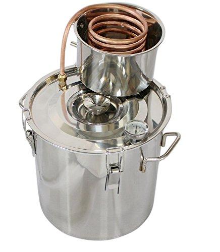 kingsunshine 8L Distillateur Maison Distillation Thermomètre Serpentin de Refroidissement de Cuivre Eau