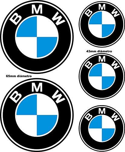 Reflektierende Aufkleber für BMW / 5 Stück – Maße auf dem Bild / reflektierender Aufkleber BMW Logo für Motorrad, Auto, Helm, Fahrrad