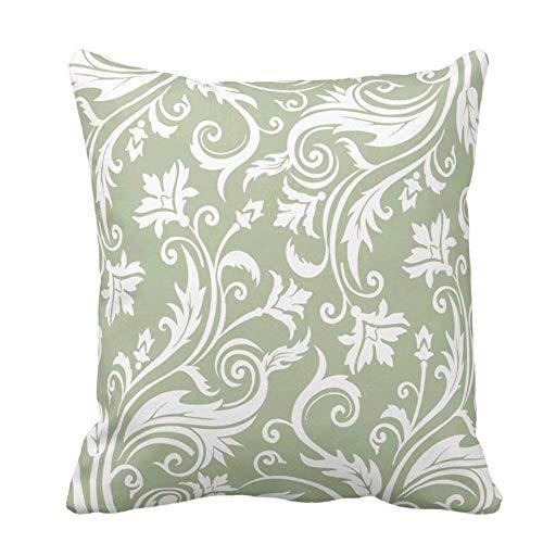 Fodera per Cuscino Fodera per Cuscino Fodera per Cuscino con Motivo Damascato Vintage Verde Salvia