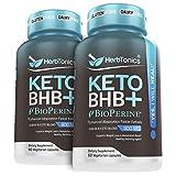 (2 Pack) Keto Bhb Diet Pills with Bioperine for Enhanced Absorption Vegan Capsules Keto bhb Supplement for Women and Men