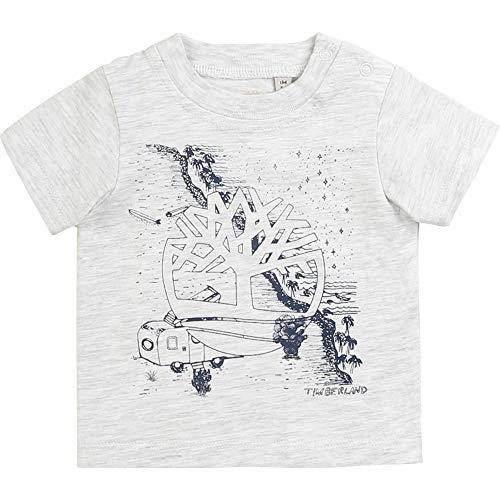 Timberland T-Shirt en Coton avec imprimé Bebe Couche Gris Clair Chine 6MOIS